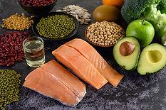 legumes-broccoli-fruit-salmon-placed-bla