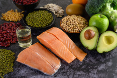 legumes-broccoli-fruit-salmon-placed-bla