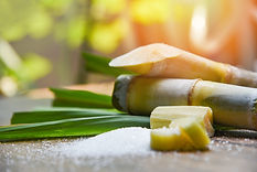 sugar-and-sugar-cane-on-wooden-table-and