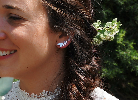Selva - Boucles d'oreilles asymétriques en Argent 925