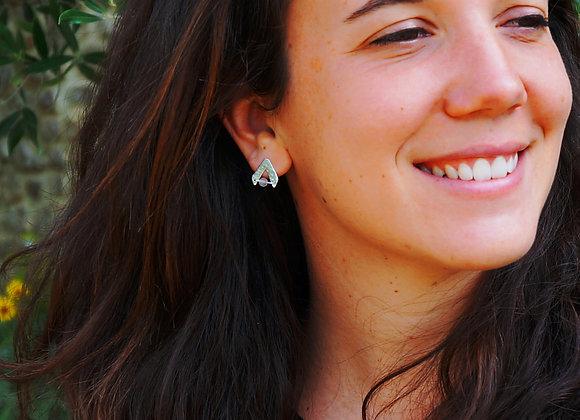 Valdivia - Boucles d'oreilles en Argent 925 et pierres fines