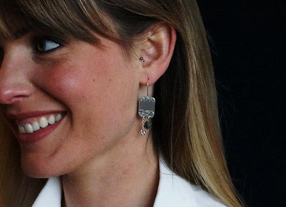 Joie - Boucles d'oreilles Argent 925 et Labradorite