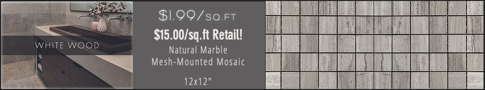 White Wooden Mosaic Door Crasher Promo