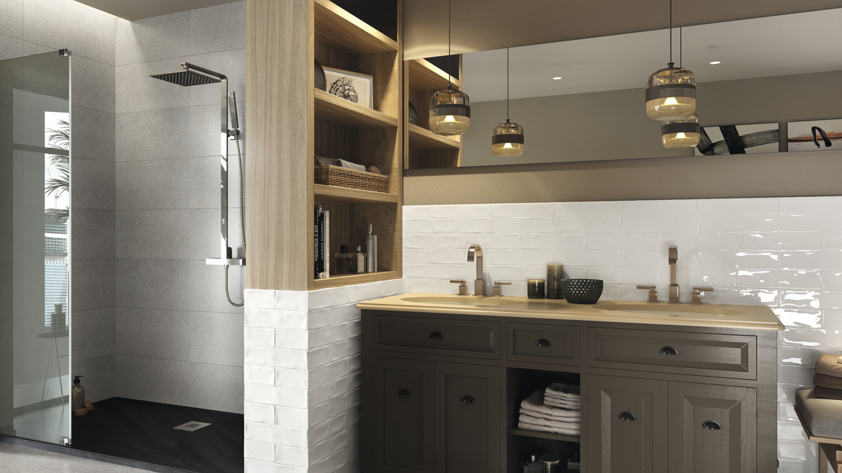 """White 3x12"""" and 2x12"""" bullnose"""