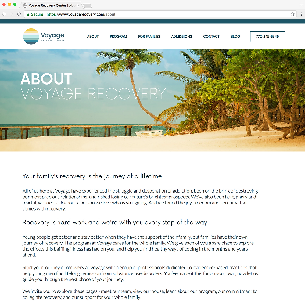 Voyage Recovery About Us page