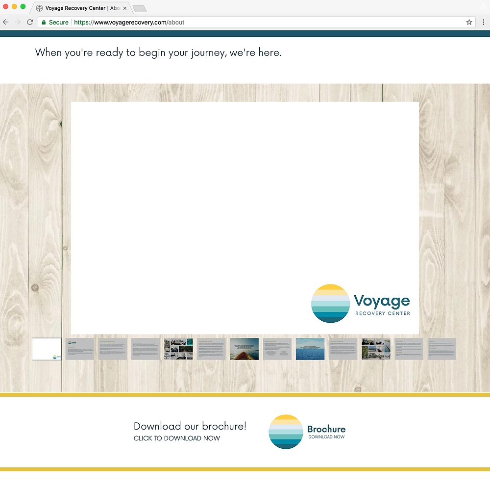 Voyage Recovery digital brochure gallery