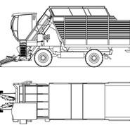 Harvester-loader for industrial vegetables and medicinal herbs FR 140