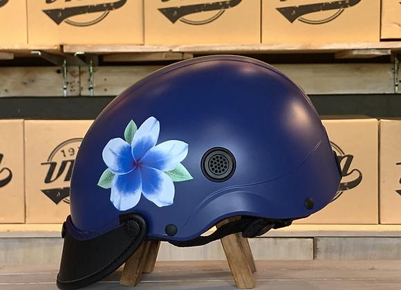 VROOM Floral Blue Bike Helmet