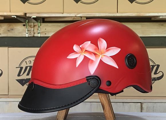 VROOM Floral Red Bike Helmet