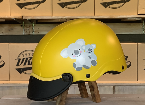 VROOM Kids NonSon Yellow Koala BikeHelmet