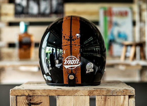 VRM 1976 PAINTED Stripes Distressed Gloss Black with Orange