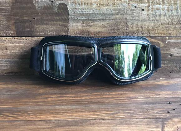 Harley Goggles Black w/ Silver Frame