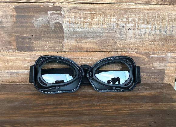Vintage Racing Goggles Black w/ Black Frame