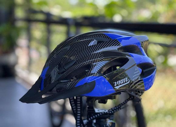 VRM BASIC BIKE HELMET Stripes Blue