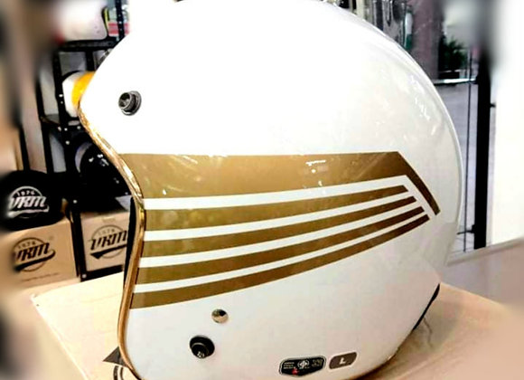 ALTRAX Gloss White Gold Wing with Gold Trim