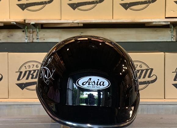 VROOM Asia Black Floral Bike Helmet