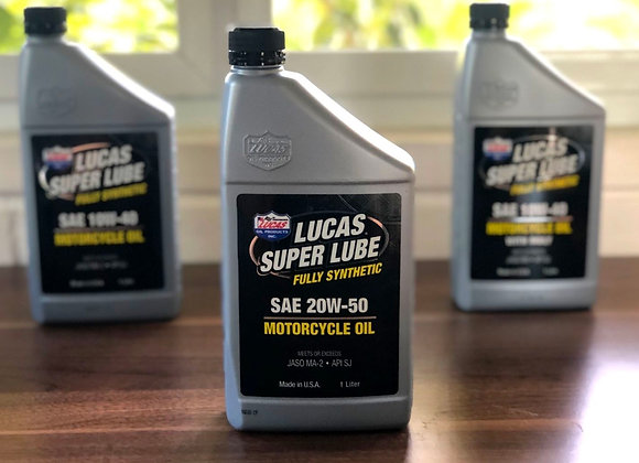 LUCAS Fully Synthetic Motorcycle Oil 20w50