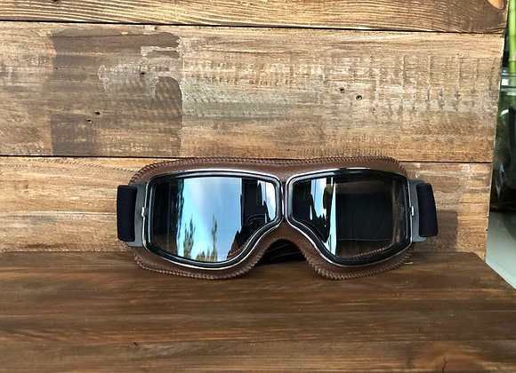 Harley Goggle Brown w/ Silver Frame