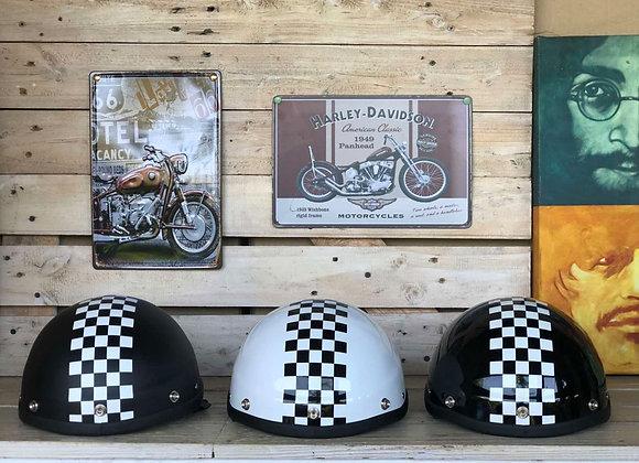 VRM 1976 Classic Skull Cap Cop Checkered Flag
