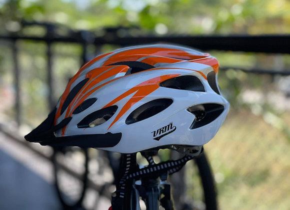 VRM BASIC BIKE HELMET White Orange