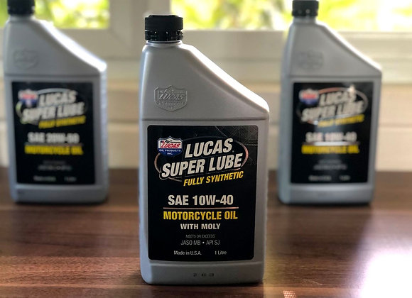 LUCAS Fully Synthetic Motorcycle Oil Scooter 10w40 w/ Moly (Molybdenum)