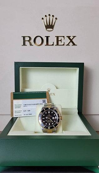 Rolex Submariner 18k Half Gold 16613LN Rare