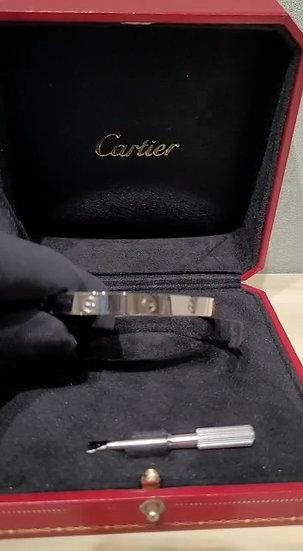 Cartier 18k White Gold Love Bracelet Men's Size 21cm
