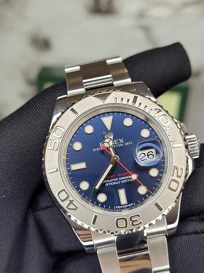 Rolex Yatch Master 116622 Sunburst Blue Dial