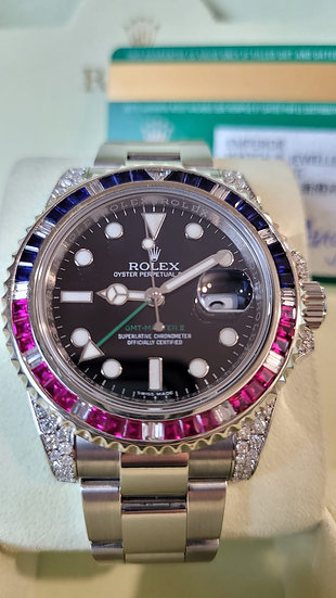 Rolex GMT Master II 116710ln Diamond Set