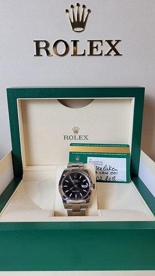 Rolex Datejust 41mm 126300 Black Dial