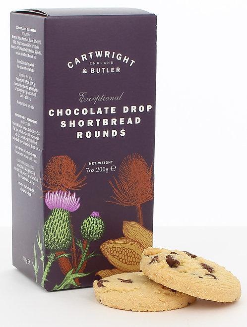 Cartwright & Butler Chocolate Drop Shortbread Rounds (Carton)