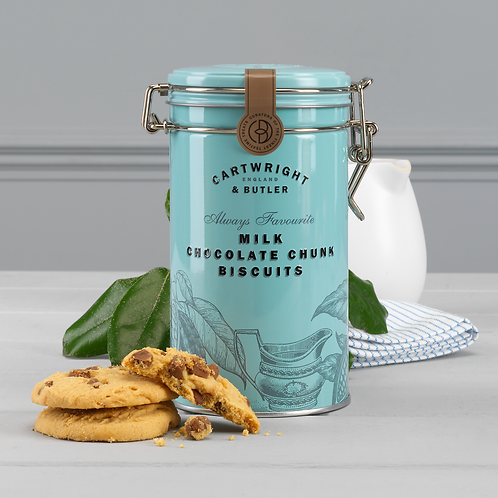 Cartwright & Butler Milk Chocolate Chunk Biscuits (Tin)