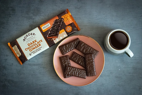 Border Dark Chocolate Ginger Biscuit Bars