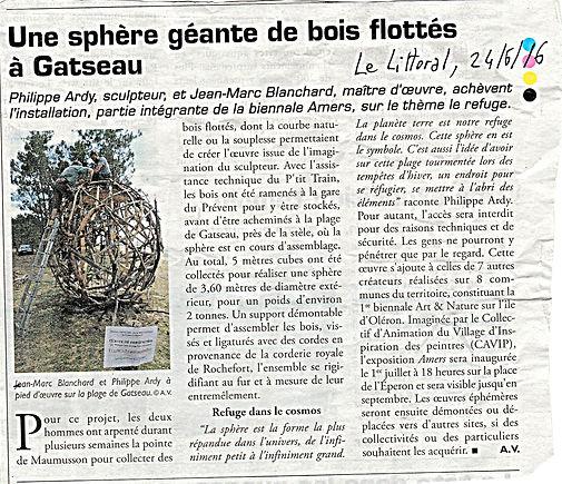 Sphère Maritime de Philippe Ardy / Jean Marc Blanchard, Biennale AMERS 2016
