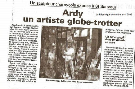 Philippe Ardy, artiste globe trotter