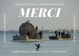 """""""Sphère maritime"""" par Philippe Ardy & Jean Marc Blanchard pour la biennale AMERS 2016 - Art & Nature sur Oléron"""