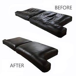 restuff leather couch cushions, replace foam on leather cushions,