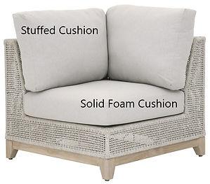 Custom Cushions replace foam on all types of furniture. We make solid foam and stuffed cushions