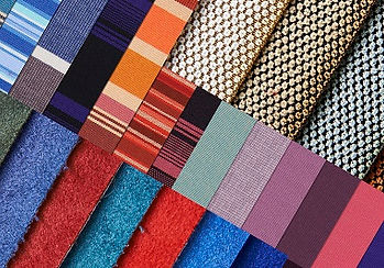 Large variety of upholstery fabrics