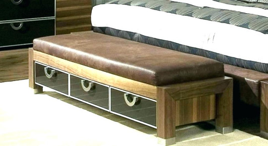 Bench cushion - leather