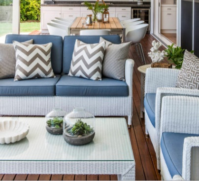 Patio cushions for wicker furniture