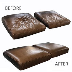 Leather cushion refoaming, cushion foam replacement,