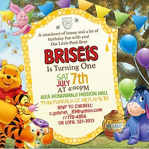 Happy 1st Bday Briseis