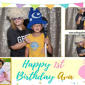 Ava HIrai's First Birthday