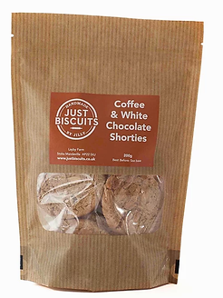 Coffee & White Chocolate Shortbread by Just Biscuits