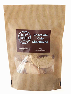 Chocolate Chip Shortbread By Just Biscuits