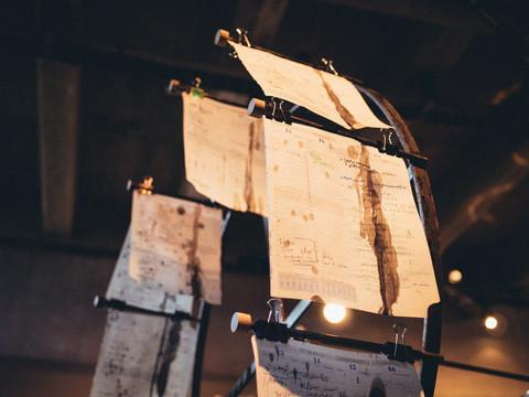 Installation sonore, graphique et mécanique par les collectifs Etrange Miroir et Kraken Sérigraphie  5/6