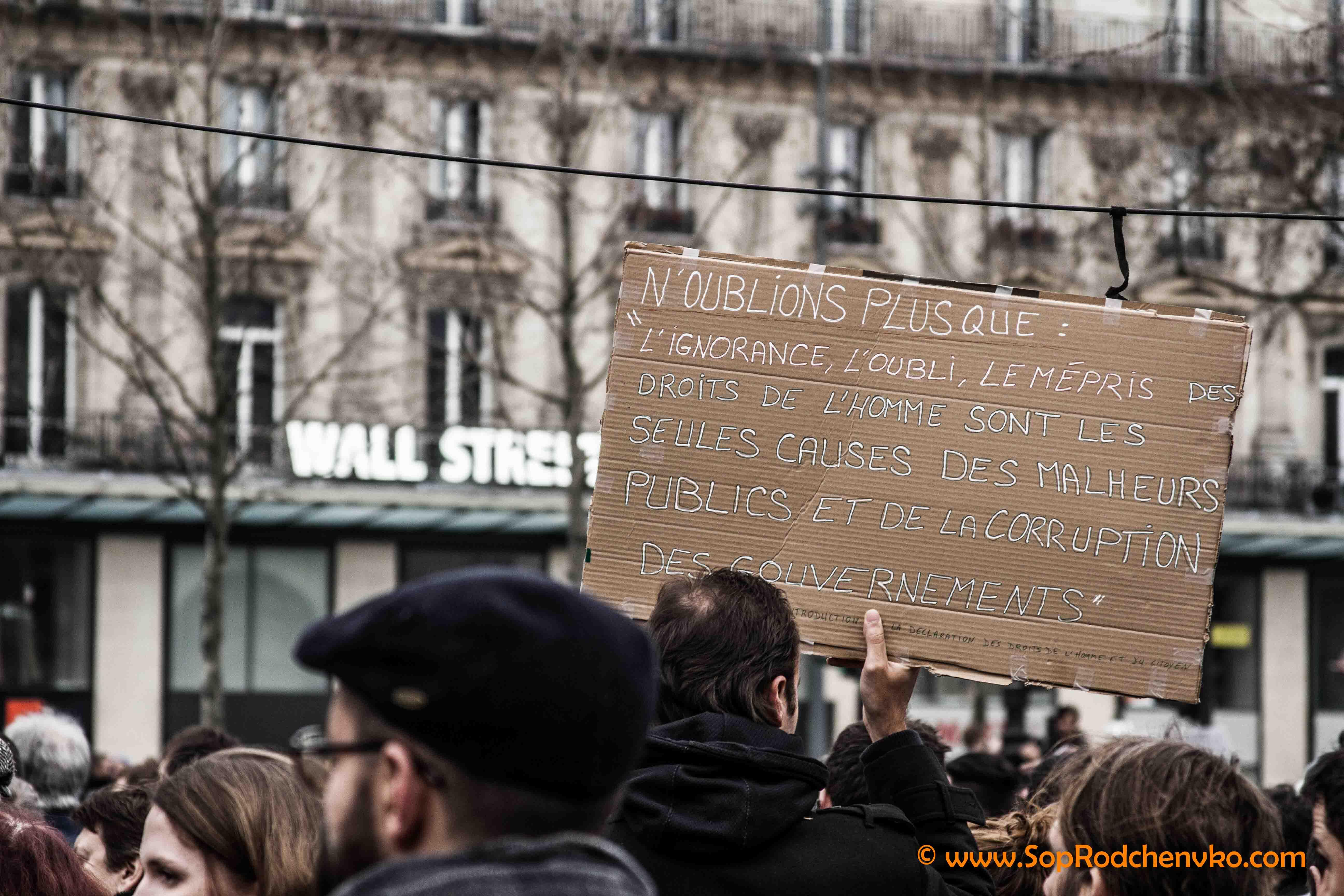 Rassemblement contre la corruption