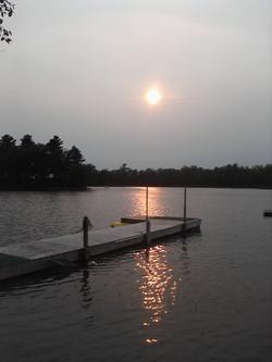 Dock SunsetBeauty Bay Lodge