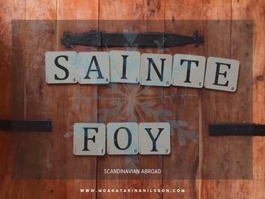November in Sainte Foy, France